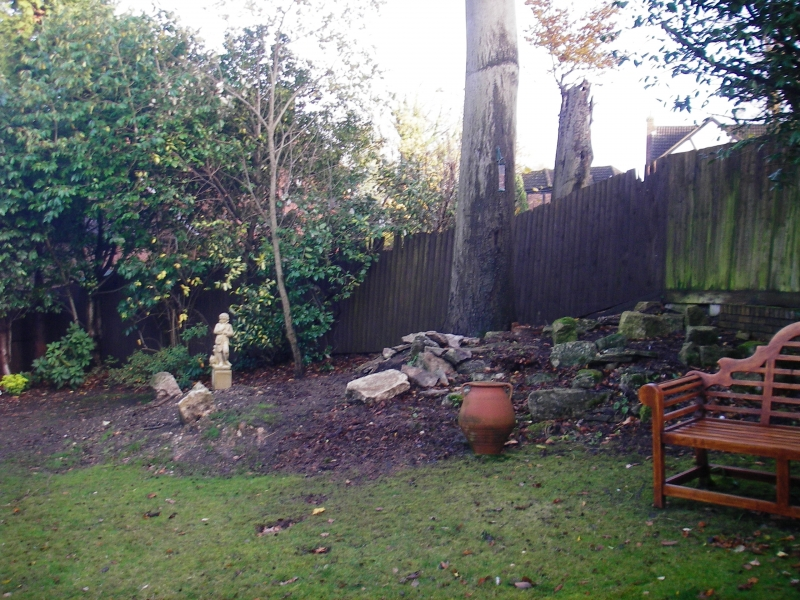 Rockery gardens before (2)