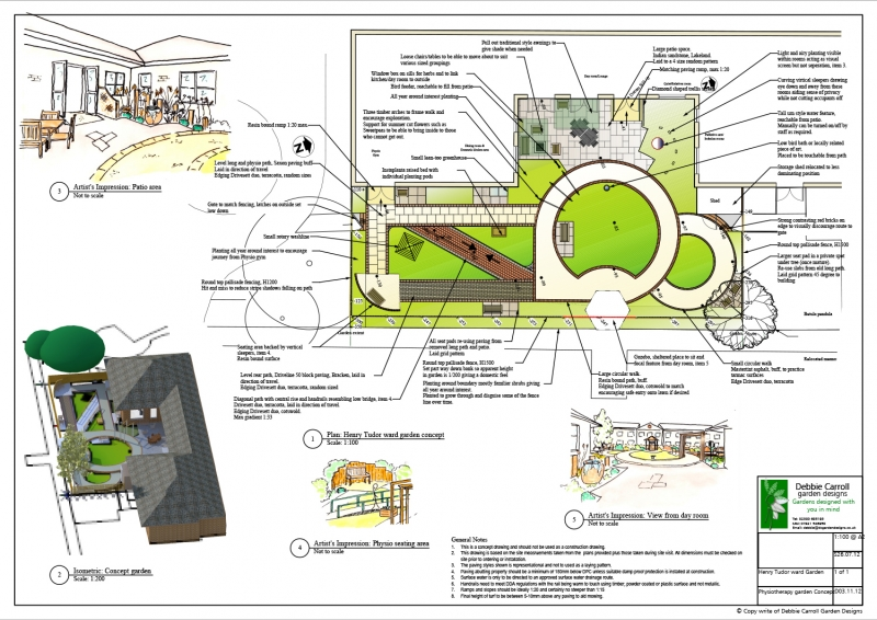 Therapeutic sensory gardens debbie carroll for Garden design portfolio