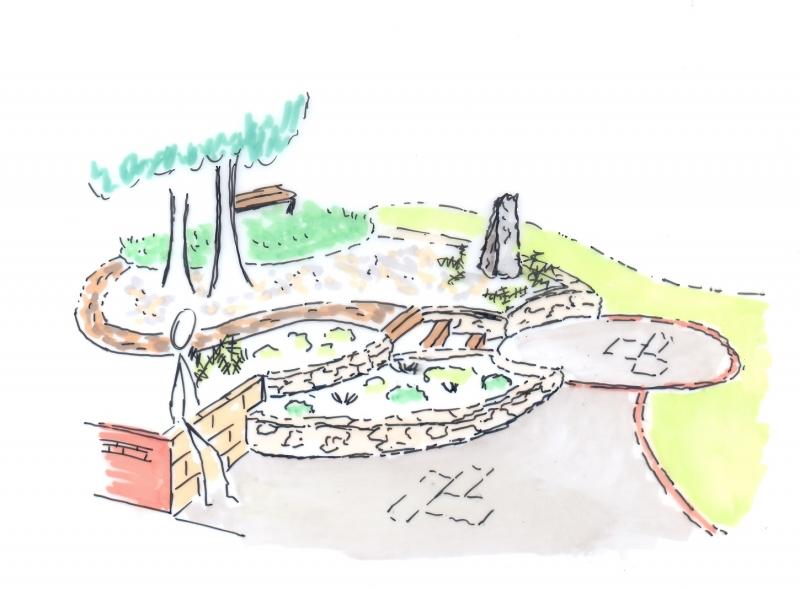 Family garden sketch re testimonial