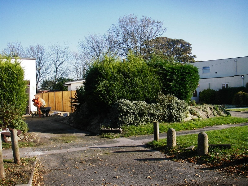 Contemporary front garden before