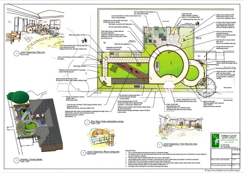 St Marks Hospital Maidenhead garden design Concept portfolio