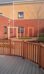 Dementia hospital garden