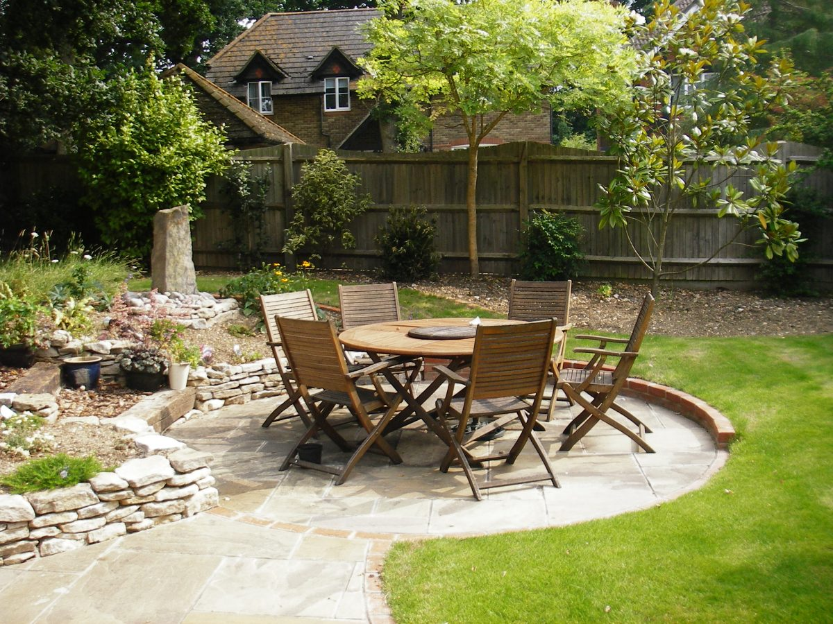 Garden design with terraced planting