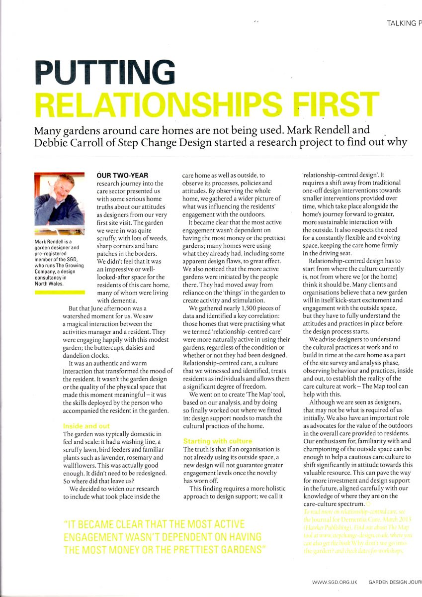 Relationship-centred design
